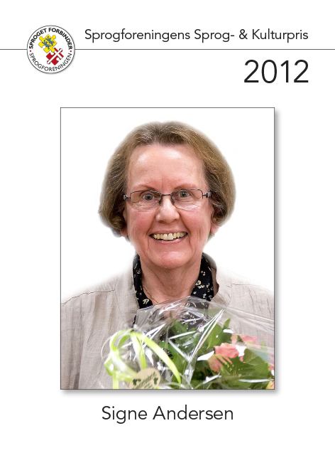 Modtager af sprog- og kulturprisen 2012